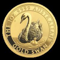 1 oz Goldmünze australischer Schwan 2018