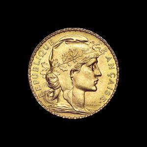 1906 - 1914 20 Francs Goldmünze französischer Hahn