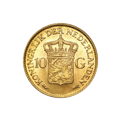 Random Year Netherlands 10 Guilder Gold Coin