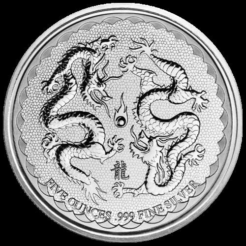 5 oz 2018 Niue Double Dragon Silver Coin