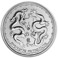 5 oz 2018 Niue Double Dragon Silver Coin