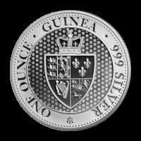 Moneda de Plata Saint Helena Spade Guinea 2018 de 1 oz