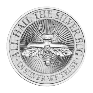 2 oz Silver Bug | Stag Beetle High Relief Silver Round