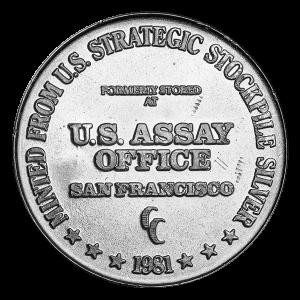 1 oz Silbermedaille U.S. Assay Office 1981