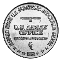 1 oz 1981 U.S. Assay Office Silver Round