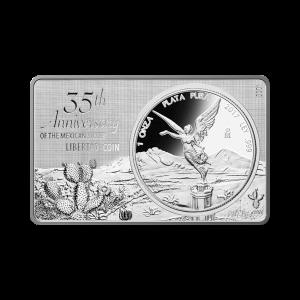 3 oz 2017 35th Anniversary of the Mexican Libertad Coin Silver Bar