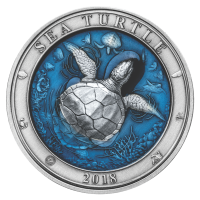 3 oz 2018 Barbados Underwater World | Sea Turtle Silver Coin
