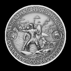 2 oz Silbermünze | Die Abenteuer von Odysseus - Angriff der Kikonen 2018
