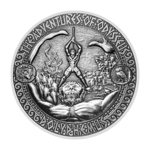 2 oz 2018 Adventures of Odysseus | Defeat of Polyphemus Silver Coin