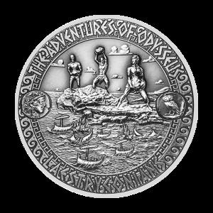 2 oz Silbermünze | Die Abenteuer von Odysseus - den Laistrygonen entkommen 2018