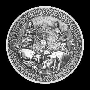 2 oz 2018 Adventures of Odysseus   Circe and Odysseus Silver Coin