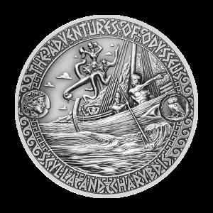 2 oz 2018 Adventures of Odysseus   Strait of Scylla and Charybdis Silver Coin