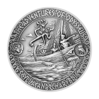 2 oz 2018 Adventures of Odysseus | Strait of Scylla and Charybdis Silver Coin