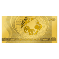 1/2 gram Money of the World Series | Money of the World Coin Note Gold Thin Wafer