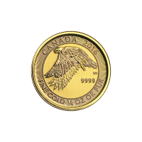 1/4 oz 2016 Canadian Snow Falcon Gold Coin