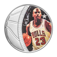 1 oz 2018 Celebrity Icons Series | Legends of Sport - Basketball | Michael Jordan Sølvmynt