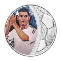 1 oz 2018 Celebrity Icons Series | Legends of Sport - Soccer | Cristiano Ronaldo Silver Coin