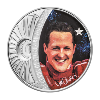 1 oz 2018 Celebrity Icons Series | Legends of Sport - Racing | Michael Schumacher Silver Coin