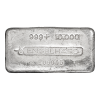 10 oz Engelhard Vintage Poured Silver Bar