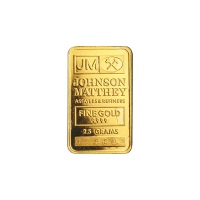 2.5 gram Johnson Matthey Vintage Gold Bar