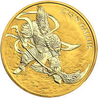 1 oz Goldmedaille - Zi Sin Gallus 2017