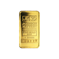 5 gram Johnson Matthey Vintage Gold Bar