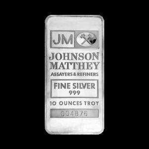 10 oz Johnson Matthey TD Bank Vintage Silver Bar