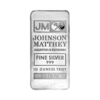 10 oz Johnson Matthey TD Bank Vintage Silver Bar