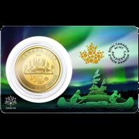 Moneda de Oro Voyageur Edición Especial 150° Canadiense 2017 de 1 oz | Certicard Dañada