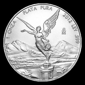Moneda de Plata Libertad Mexicana 2012 de 1 oz