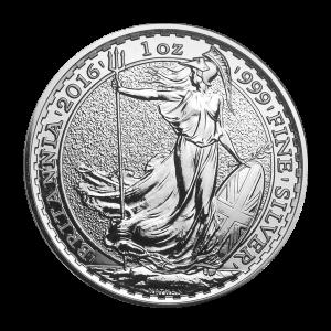 Pièce d'argent Britannia marquée Année lunaire du singe 2016 de 1 once