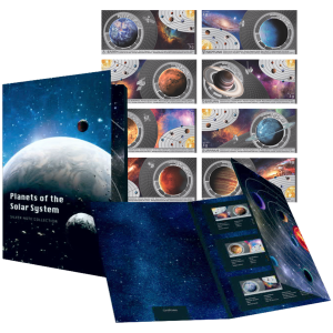 Set of 8 x 3 g Planets of the Solar System | Silver Thin Wafers
