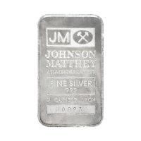 2 oz klassischer Silberbarren Johnson Matthey | The Printing House