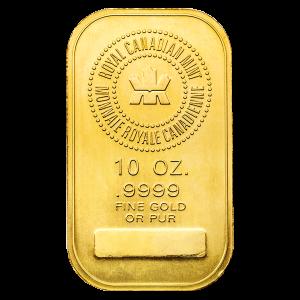 10 oz | RCM | Royal Canadian Mint Gold Bar