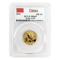 8 g 2016 Chinese Panda PCGS MS 69 Gold Coin