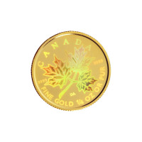 1/4 oz 2001 Canadian Maple Leaf Hologram Gold Coin