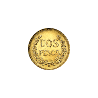 Random Year Mexican 2 Pesos Gold Coin
