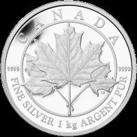 1 kg | Kilo Silbermünze kanadisches Ahornblatt für immer Polierte Platte 2012