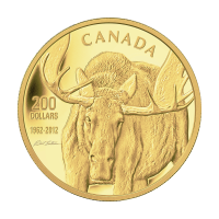 1 oz 2012 $200 Canadian Moose Gullmynt