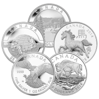 1 oz RCM Assorted Commemorative Silver Coin