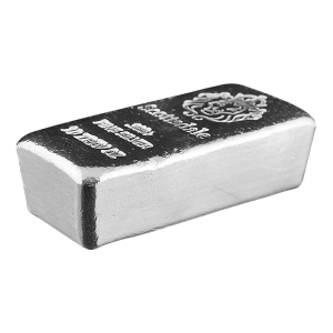 10 oz Scottsdale Mint Cast Silver Bar