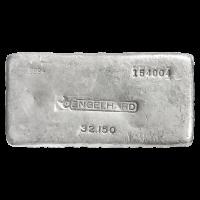 1 kg | Kilo klassischer Silberbarren Engelhard