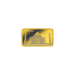 1/2 g Landmarks of the World |Taj Mahal Proof Gold Rectangular Coin