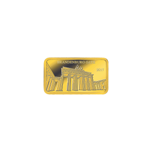 1/2 g Landmarks of the World | Brandenburg Gate II Proof Gold Rectangular Coin