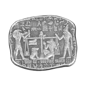 1 oz Egyptian Relic Series | Anubis Jackal Silver Bar