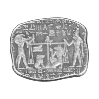 1 oz Silberbarren ägyptische Reliktserie | Anubis Jackal - Monarch Precious Metals