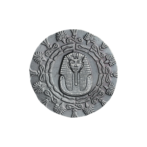 1/4 oz Monarch Precious Metals Egyptian King Tut and Pyramid Silver Round