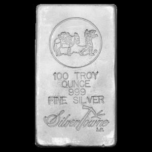 100 oz Silvertowne Silver Bar