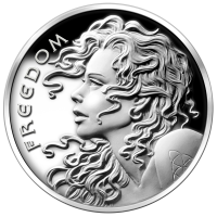 2 oz 2013 Freedom Girl Silver Proof-like Round