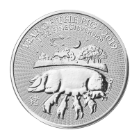 1 oz 2019 British Royal Mint Lunar Year of the Pig Silver Coin